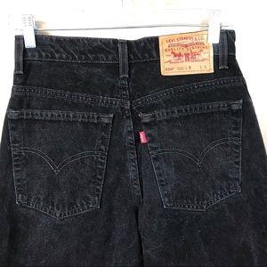 Vintage Levi's 550 high rise mom jeans black 9L